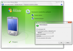 Windows Mobile Device Center - náhled