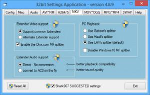Advanced Codecs for Windows 7/8/10 - náhled