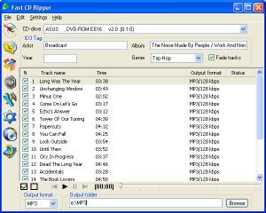 Fast CD Ripper - náhled