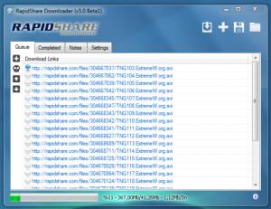 RapidShare Downloader - náhled