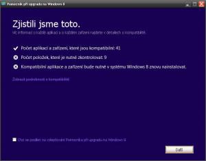 Upgrade na Windows 8 - náhled