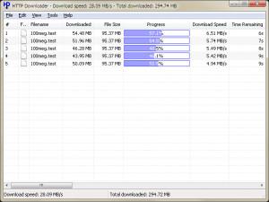 HTTP Downloader - náhled