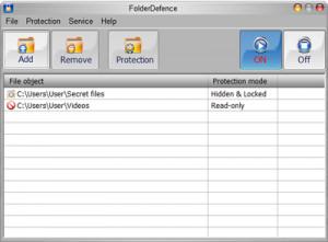 FolderDefence - náhled