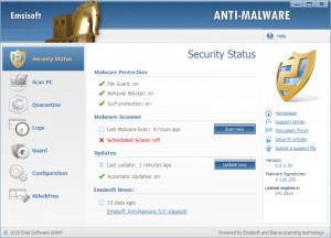 Emsisoft Anti Malware - náhled