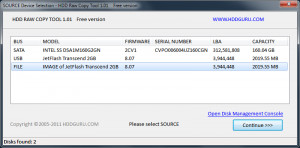 HDD Raw Copy Tool Portable - náhled