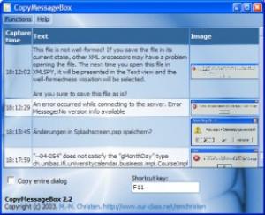 CopyMessageBox - náhled