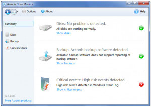 Acronis Drive Monitor - náhled