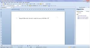 Kingsoft Writer - náhled