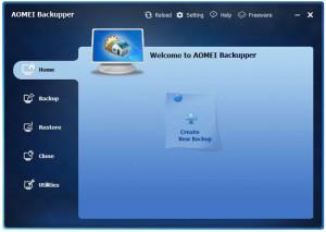 AOMEI Backupper - náhled