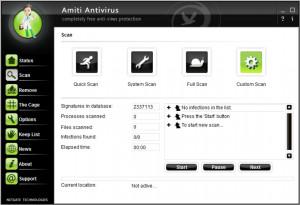 Amiti Free Antivirus - náhled
