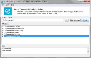 Thunderbird to Outlook Transfer - náhled