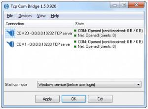 TCP COM Bridge - náhled