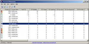 ProcessTCPSummary - náhled