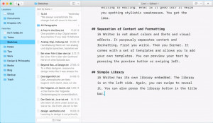 iA Writer - náhled