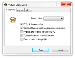 Virtual CloneDrive - náhled