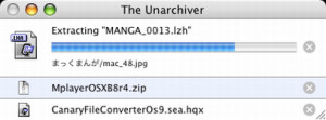 The Unarchiver - náhled