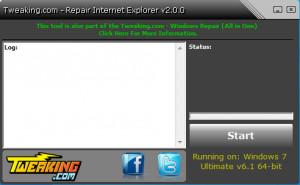 Repair Internet Explorer - náhled