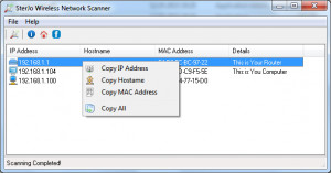 SterJo Wireless Network Scanner  - náhled