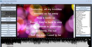 Lyric Video Creator - náhled
