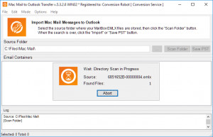Mac Mail to Outlook Transfer - náhled