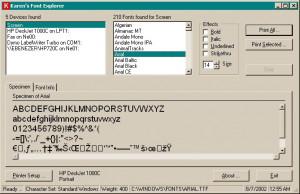 Font Explorer - náhled