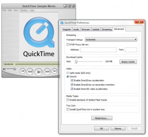 QuickTime player - náhled