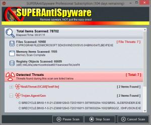 SUPERAntiSpyware - náhled