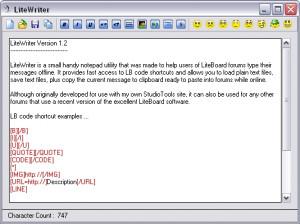 LiteWriter - náhled