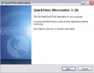QuickTime Alternative - náhled