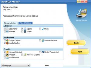BackUp Maker - náhled