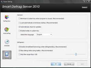 Smart Defrag Server - náhled