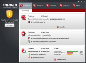 Comodo Internet Security Premium - náhled