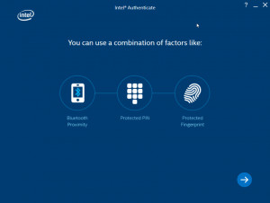 Intel Authenticate - náhled