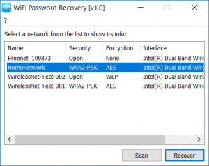WiFi Password Recovery - náhled