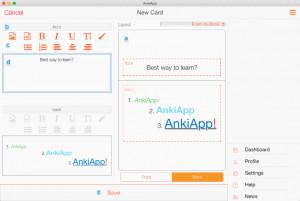AnkiApp - náhled