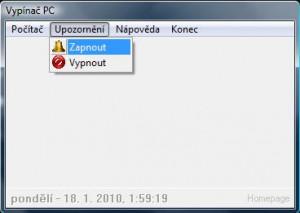 Vypínač PC - náhled