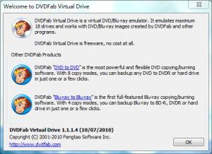DVDFab Virtual Drive - náhled