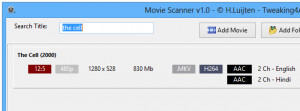 MovieScanner  - náhled