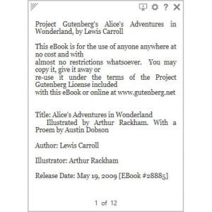 Taskbar Reader - náhled