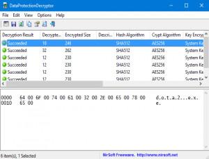 DataProtectionDecryptor - náhled