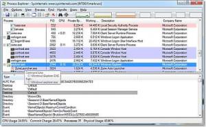 Process Explorer - náhled