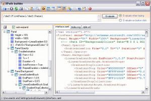 XPath builder - náhled