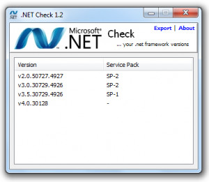 .NET Check - náhled