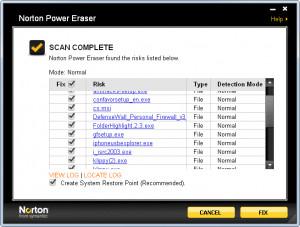 Norton Power Eraser - náhled
