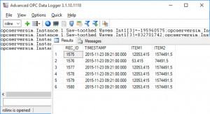 Advanced OPC Data Logger - náhled