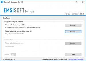 Emsisoft Decrypter for ZQ - náhled