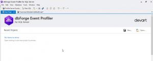 dbForge Event Profiler for SQL Server - náhled