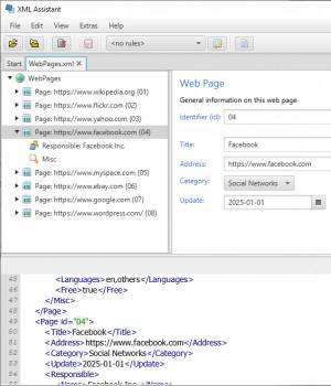 XML Assistant - náhled