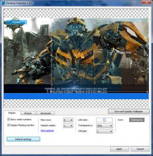 DesktopCal - náhled