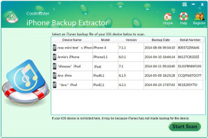 Coolmuster iPhone Backup Extractor - náhled
